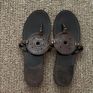 Dark Brown Jack Rogers Georgica Sandals